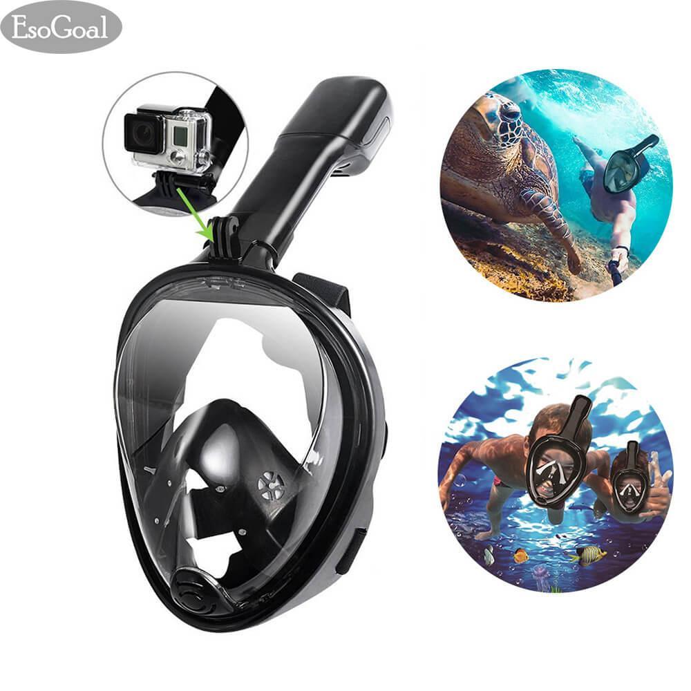 Esogoal Full Face Snorkel Mask Snorkeling Mask Diving Mask Seaview 180° L Xl Full Face And Anti Fog Anti Leak Design For Snorkeling Gopro Compatible Longer Snorkeling Tube Price Comparison