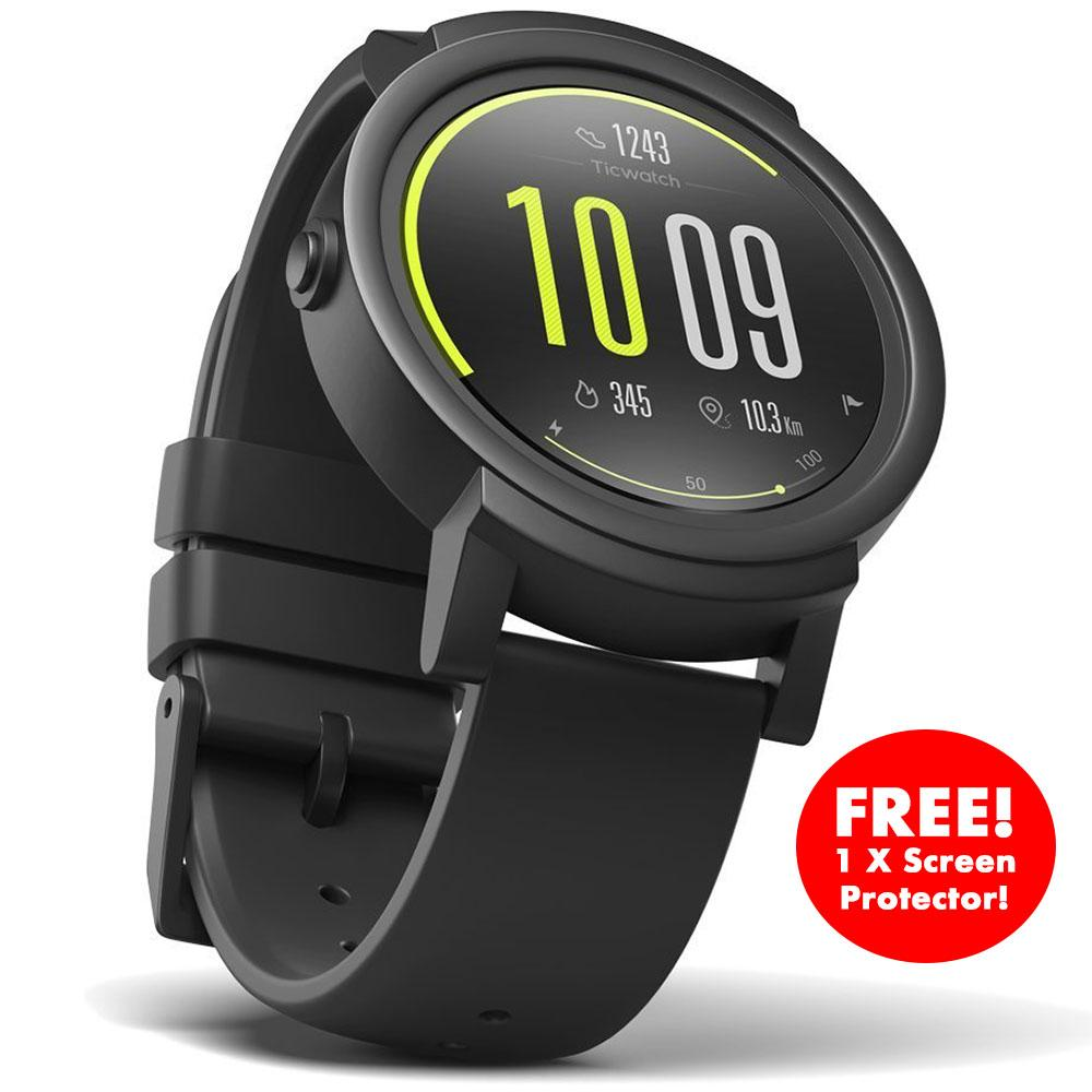 Top 10 Ready Stock Ticwatch E Shadow Most Comfortable Smartwatch Shadow 1 4 Inch Oled Display Android Wear 2 Compatible With Ios And Android Google Assistant