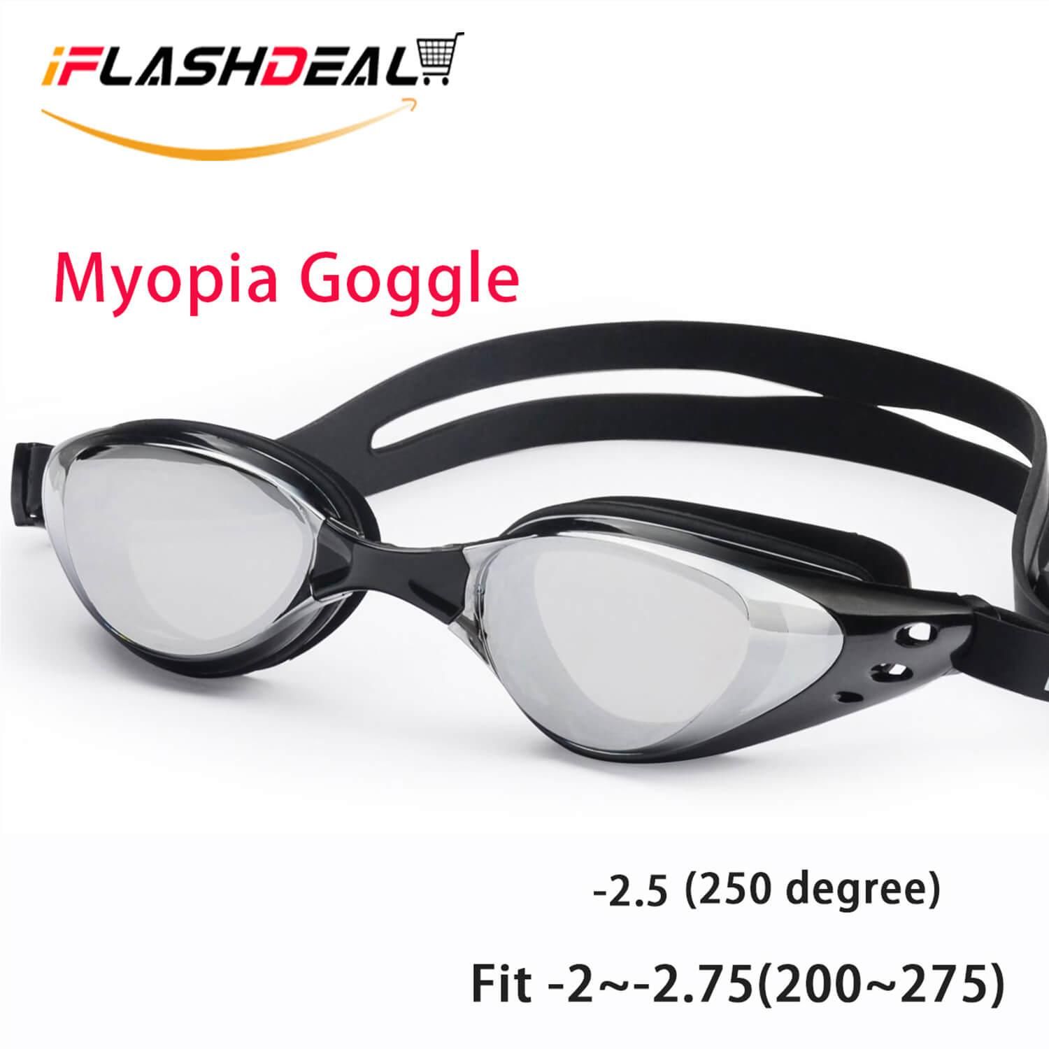 6c8a38d8c115 iFlashDeal Myopia Swim Goggles Swimming Goggles No Leaking Anti Fog UV  Protection Suit for -2