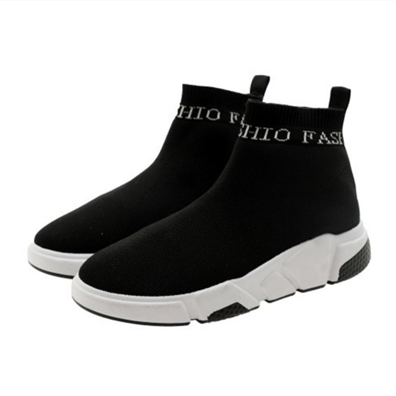 84d7b96af295 Elasticity Socks Shoes women Foot Covering 2019 Spring New Style Korean  Style Ulzzang Hight-top