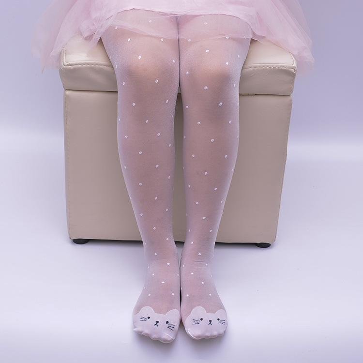 Cute Children Girl High Elastic Breathable Pantyhose Dancing Bottoming Stockings Anti-Hook Thin Leggings Sock Specification:small [height 80-100cm] By Dili Mall.