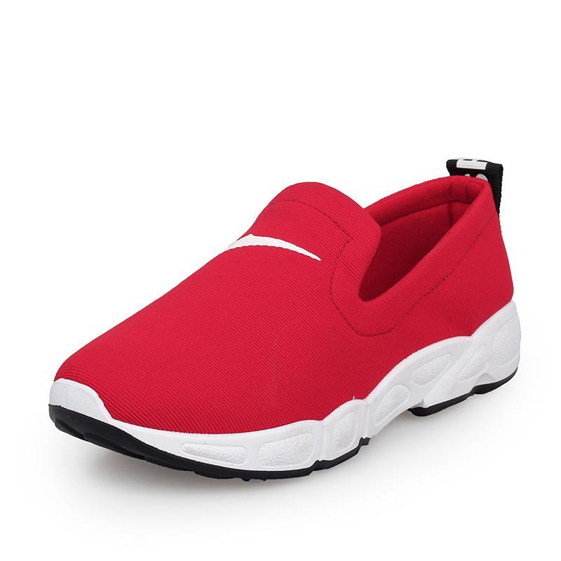 Musim semi sepatu olahraga perempuan 2018 model baru Gaya Korea netral sol datar sepatu lapisan tunggal mudah dipakai Orang Malas Carrefour Sepatu