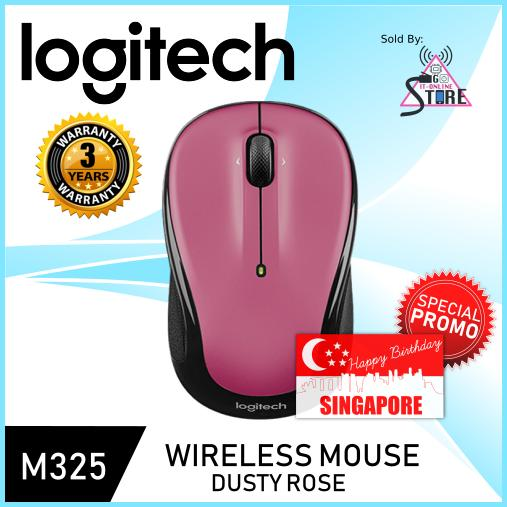 Logitech Wireless Mouse M325 Dusty Rose