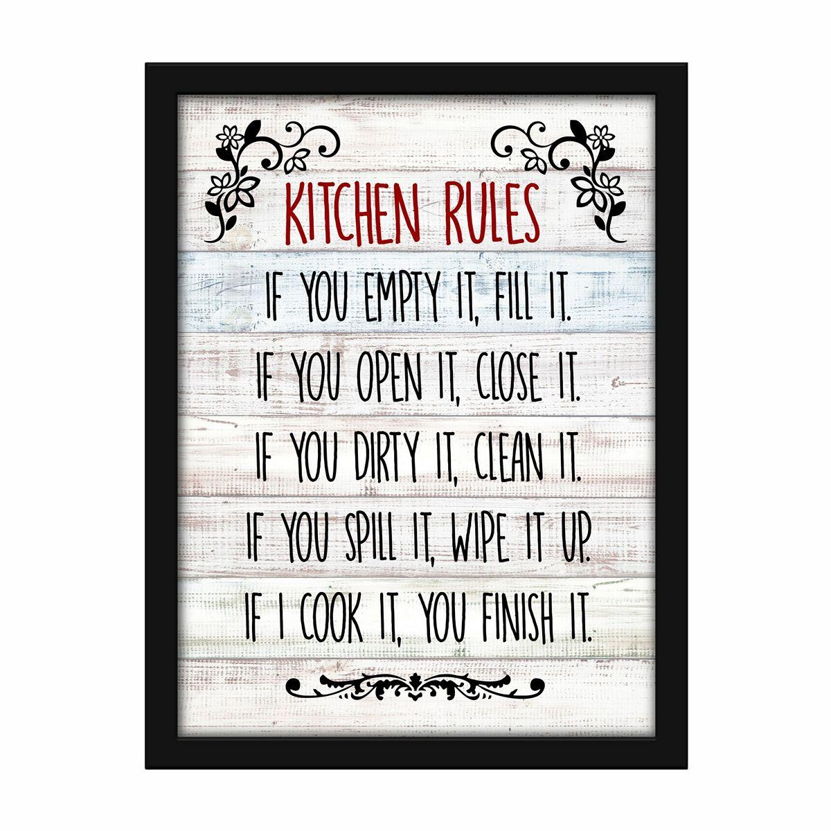 Kitchen Rules Wall Decor