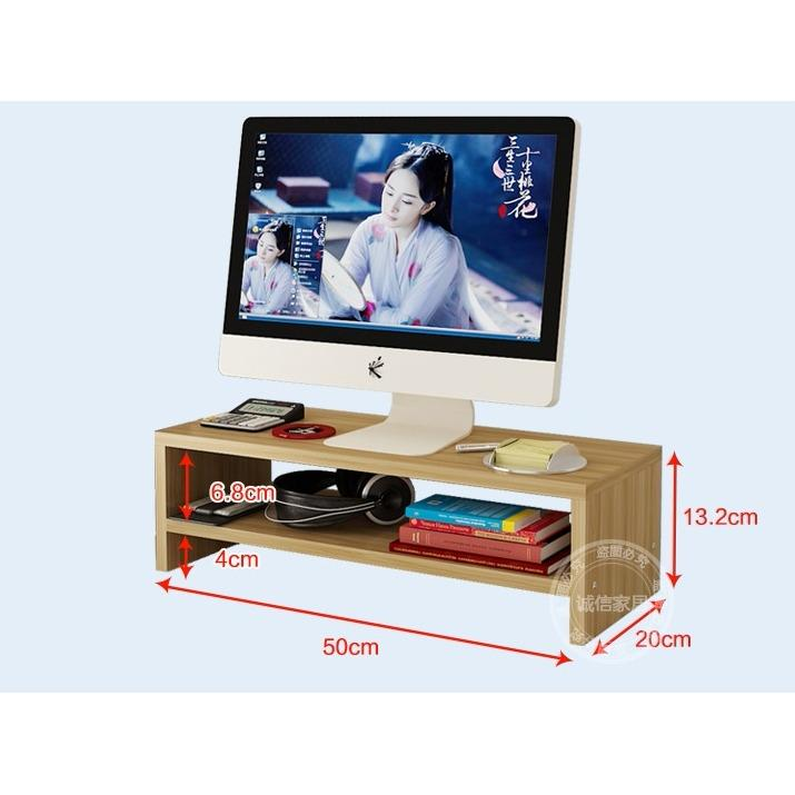Premium Wooden Monitor Riser Ergonomic Stand / Laptop Stand / Keyboard Storage / Posture Correction