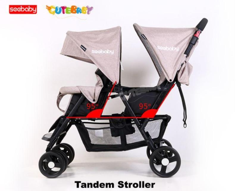 Seebaby front and back T33 Twin Stroller Singapore