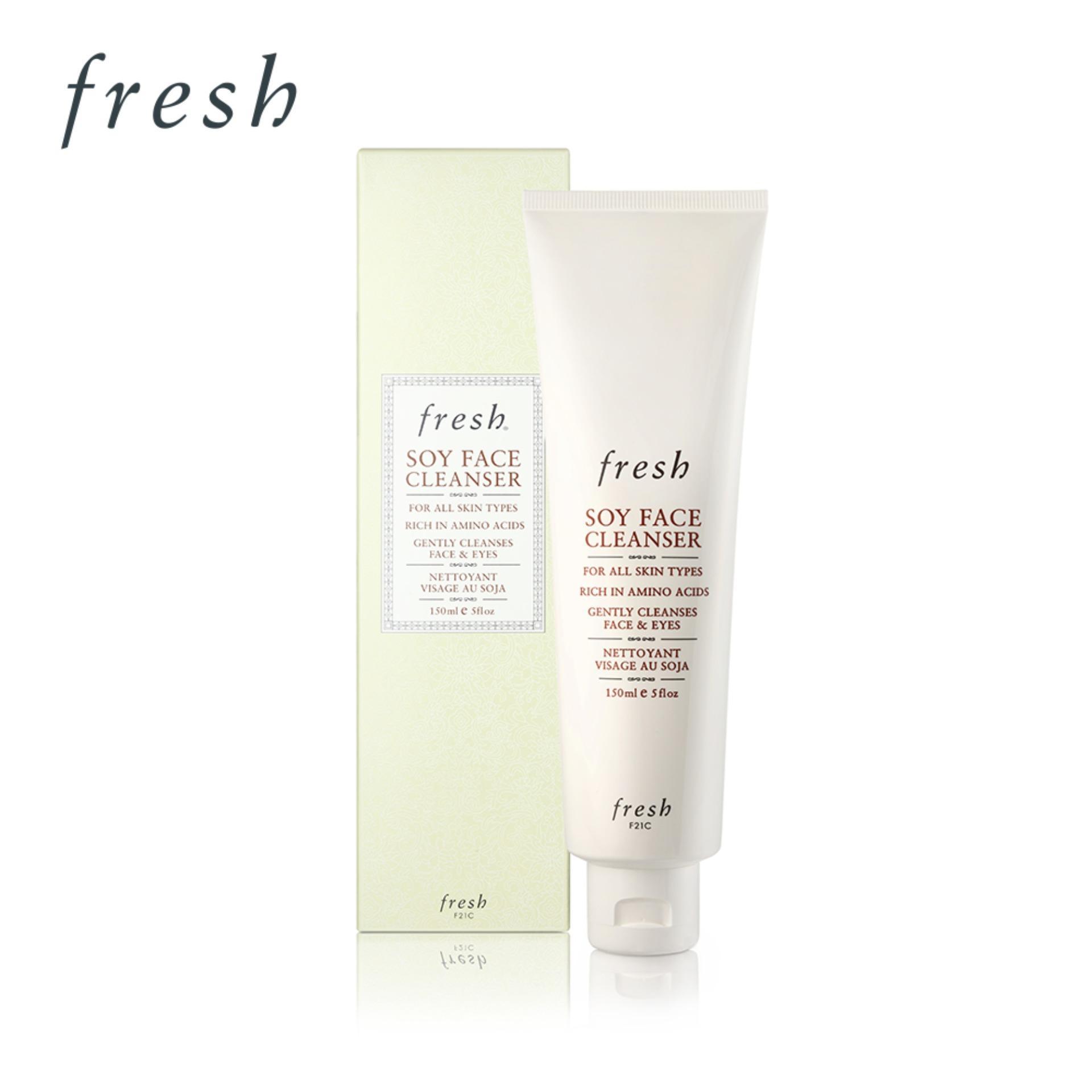 Fresh Soy Face Serum Rich in Amino Acids Firms & Hydrates  1 fl. oz Svasthya Body & Mind Organic Cocoa Sugar Scrub 20 oz