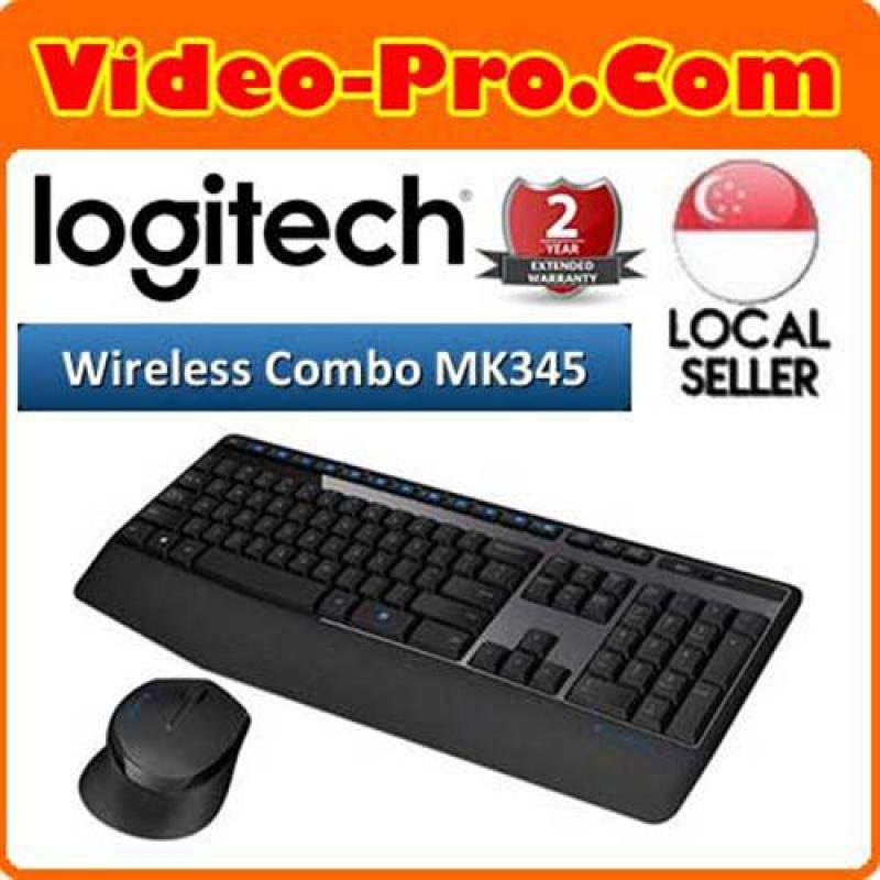 Logitech MK345 Wireless Desktop Combo with Full-Size Keyboard and Right-Handed Mous Singapore