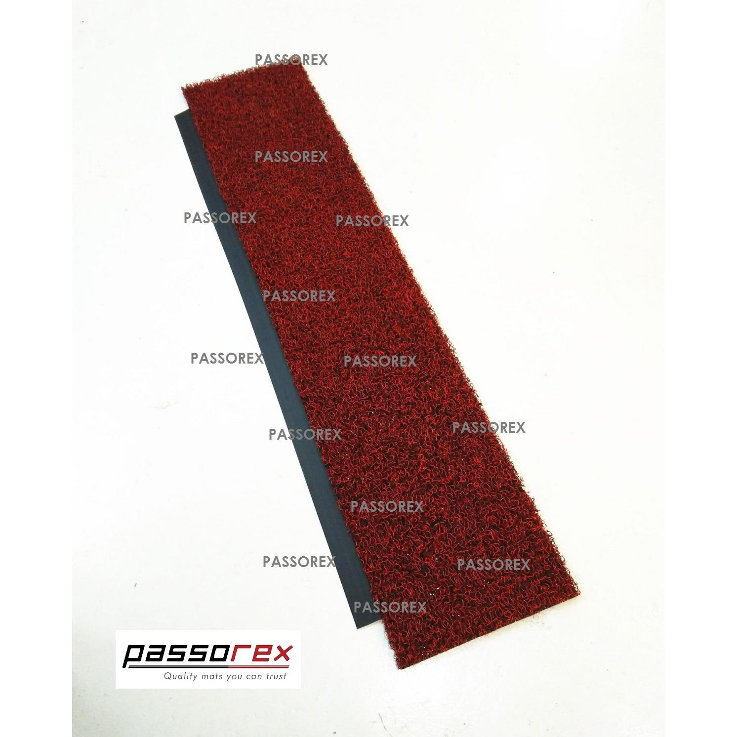 Discounted Passorex Door Gap Coil Mat With Rubber Edge Prxdgme1202913 Black Red