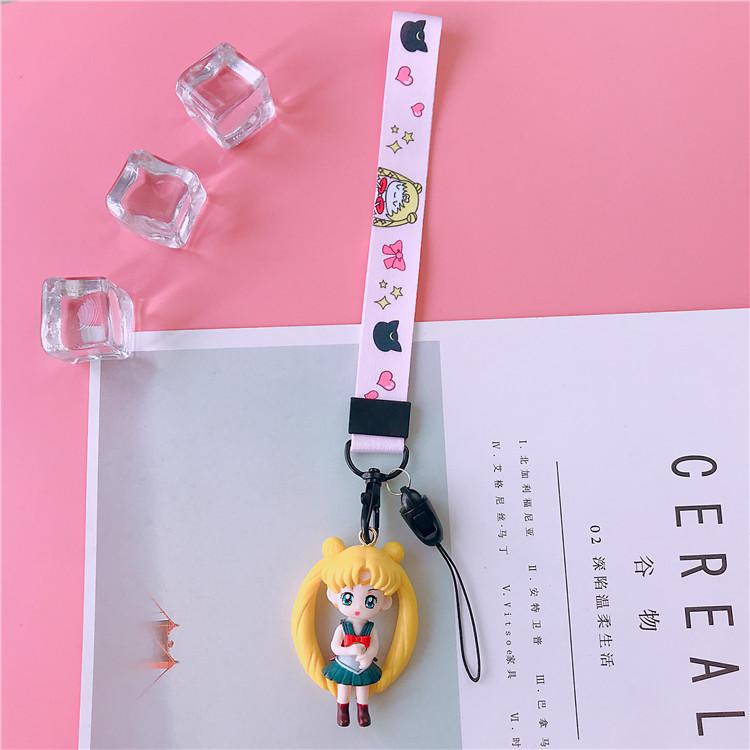 Rp 53.000. Sailormoon HP tali gantungan Casing HP Rantai untuk menggantung perhiasan Apple ID Android penggunaan umum oppo Imut tali gantung ...