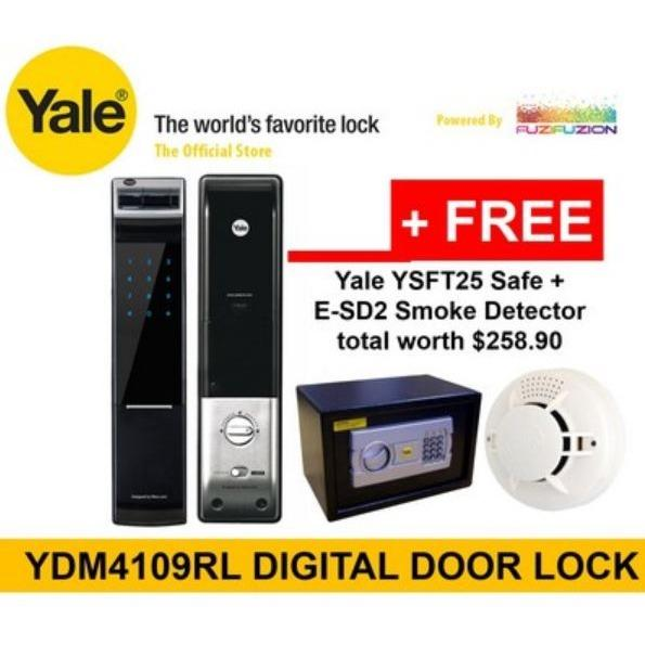 Best Deal Yale Intelligent Biometric Fingerprint Digital Door Lock Roller Latch Without Lever Handle Ydm 4109Rl