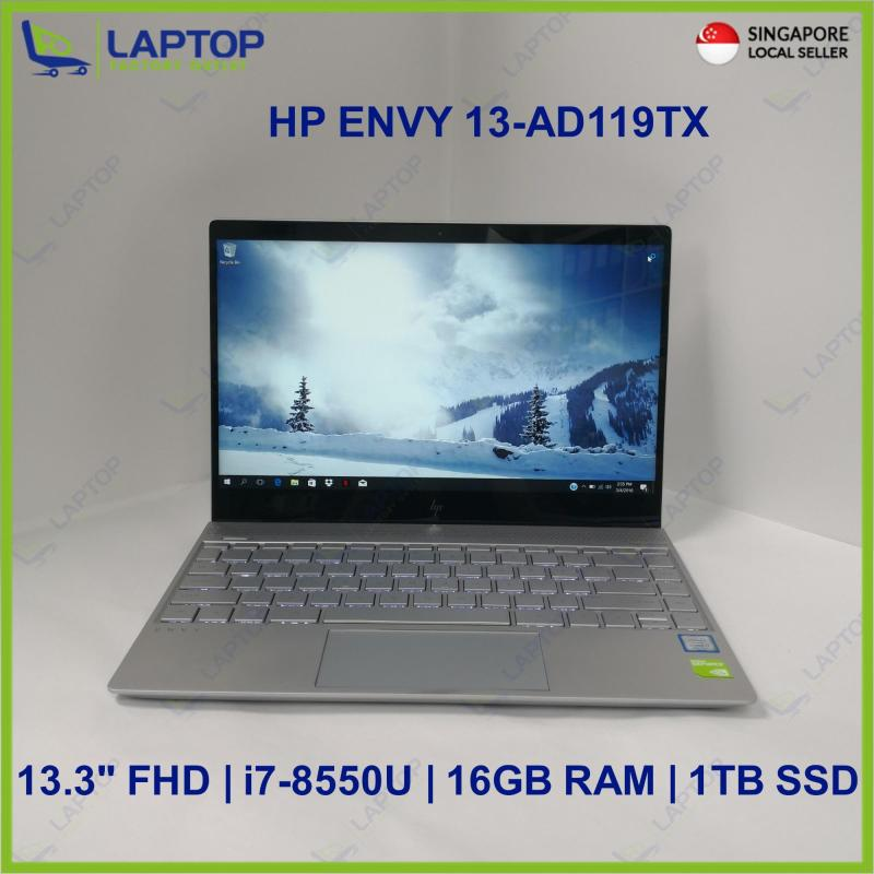 HP ENVY 13-AD119TX (i7-8/16GB/1TB SSD) @Light Original Warranty@ Preowned [Refurbished]