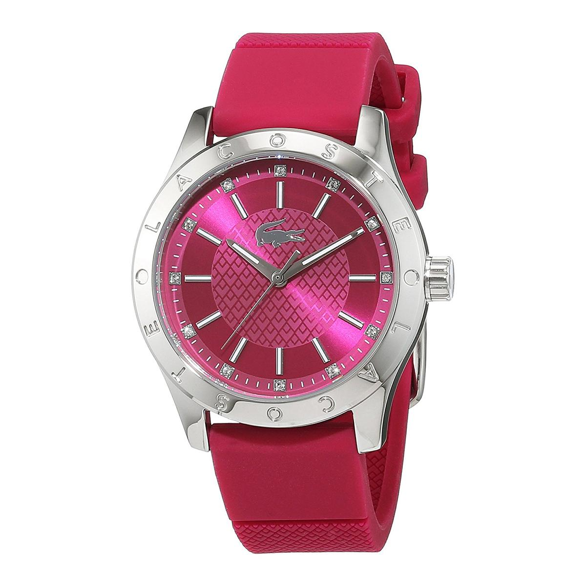 Discount Lacoste Watch Charlotte Pink Stainless Steel Case Silicone Strap Ladies 2000976 Lacoste On Singapore