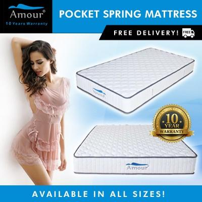 Where Can I Buy Amour Pocket Spring Mattress Single Super Single Queen King Size Available 10 Years Warranty Free Delivery