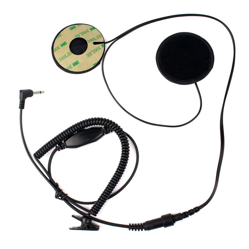 Helmet Motorcycle Motorbike Headset Earpiece 3.5mm For MP3 MP4 GPS 3.5 Earphone