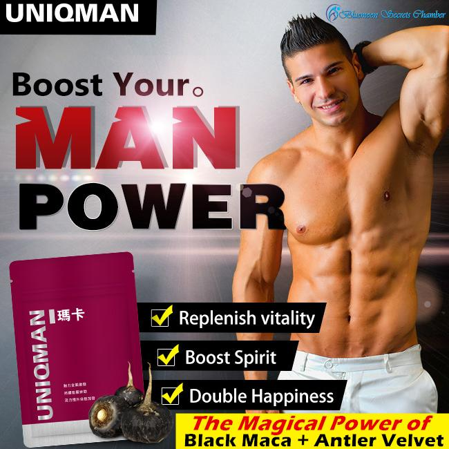 Top Rated Uniqman 6X Maca Enhance 30 Capsules Certified Organic Maca ⭐黑紅馬卡 X 頂級鹿茸 X 螯合鋅