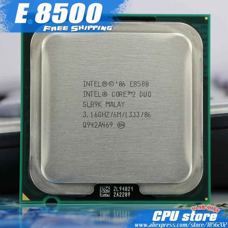 Intel Core 2 Duo E8500 Prosesor CPU (3.16 GHz/6 M/1333 GHz) dual-Core Socket 775 (Bekerja 100%) E8400 E8600-Intl