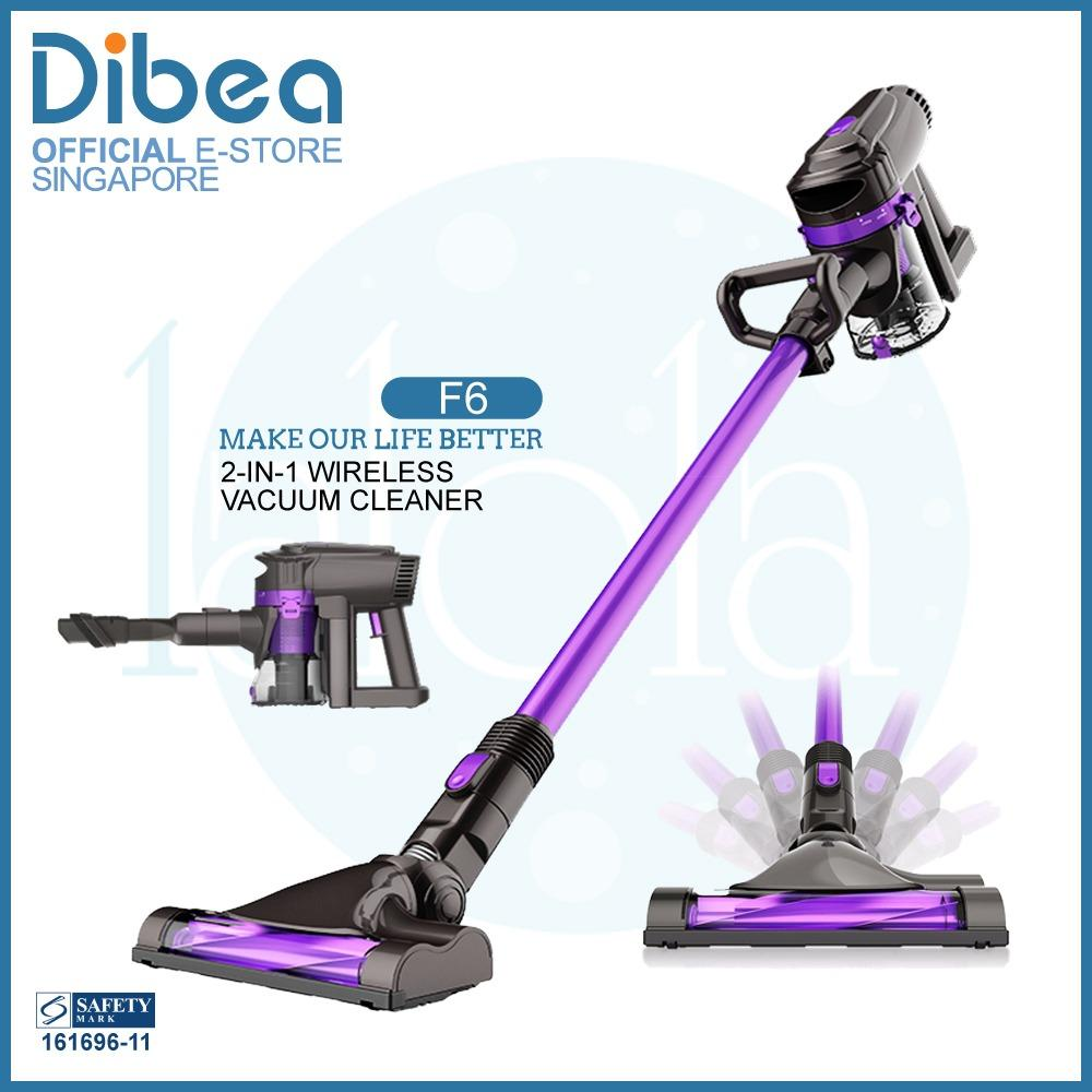 Official Dibea Singapore F6 Cordless Vacuum Cleaner 2 In 1 Online