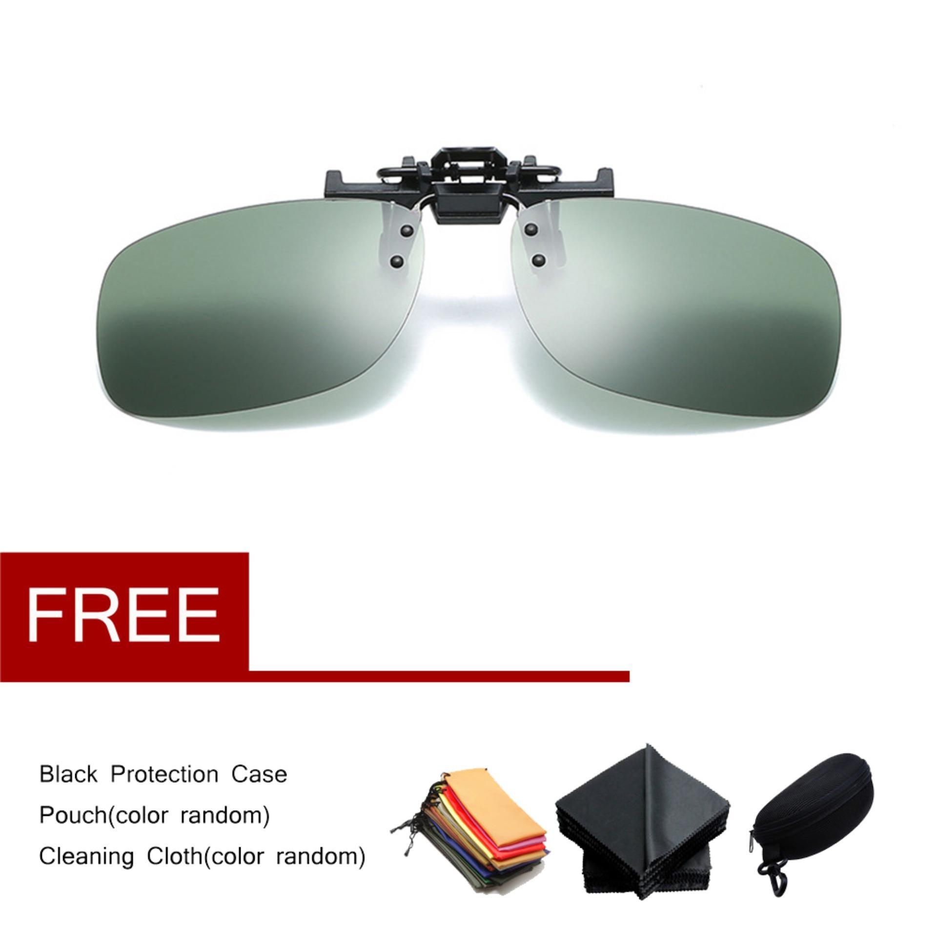 7026bc83f8 Hot Sale Fashion Polarized Lens UV400 Clip on Sunglasses Driving Glasses  Day Night Vision