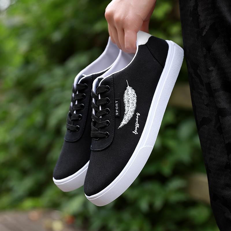 2018 New Style Winter Canvas Men s Flat Shoes Korean Style Trend Men s Shoes  Trendy Shoes Versatile e2c4468ae