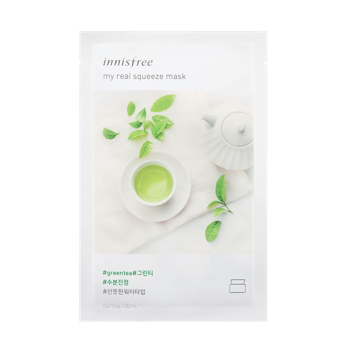 Discount Innisfree My Real Squeeze Mask Green Tea 20Ml X 10Pcs Singapore