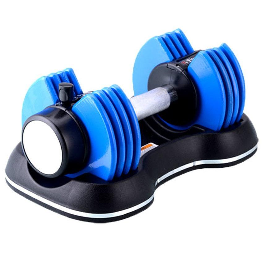 Buy Fitness Tech Adjustable Dumbbells 25Ibs Blue One Pair Cheap On Singapore