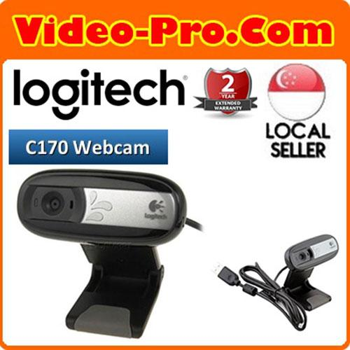 Logitech C170 Webcam / Plug-and-play video calls / 5-megapixel photos / Built-in mic 2Years Warranty