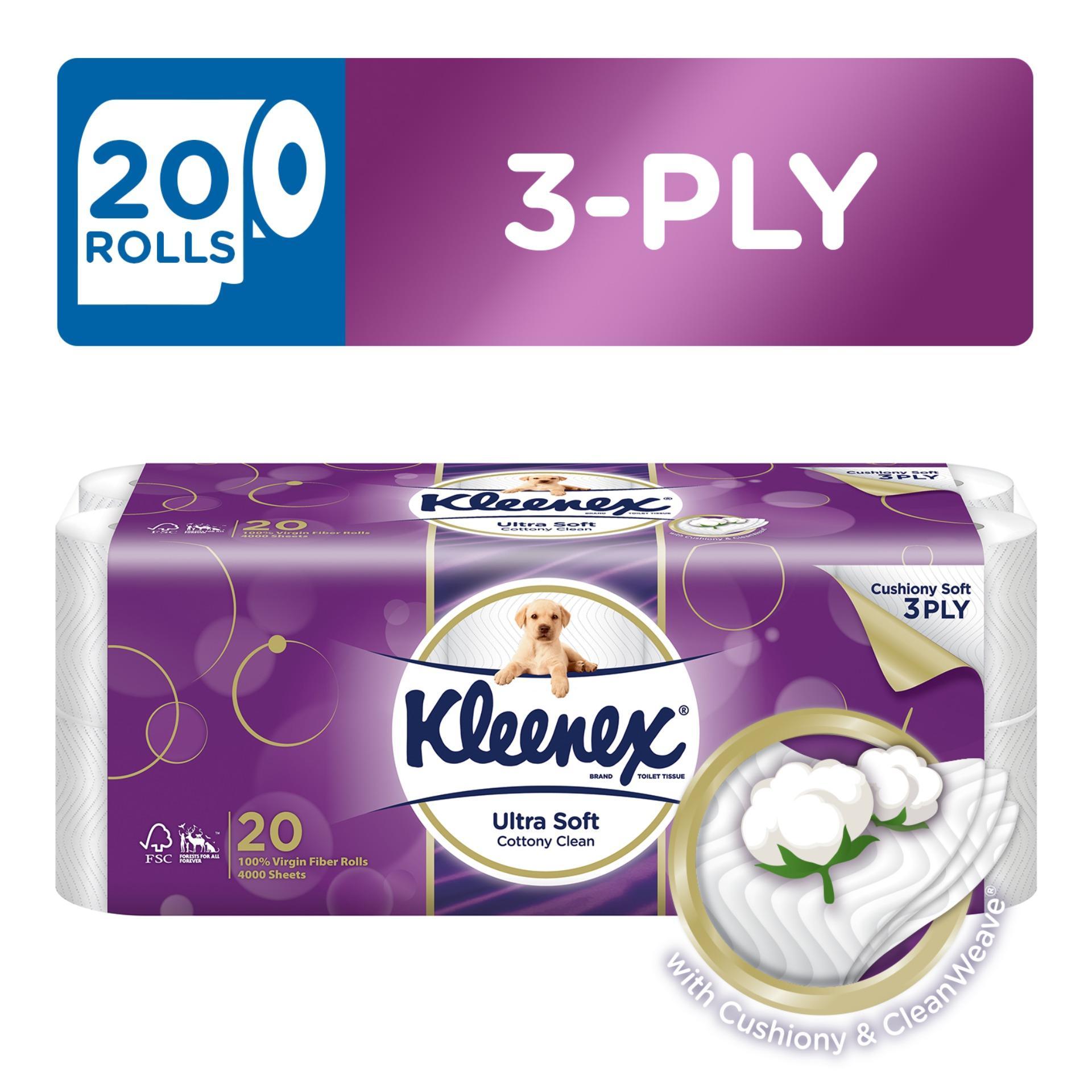 Kleenex Clean Care Bath Tissue 20x200sheets.