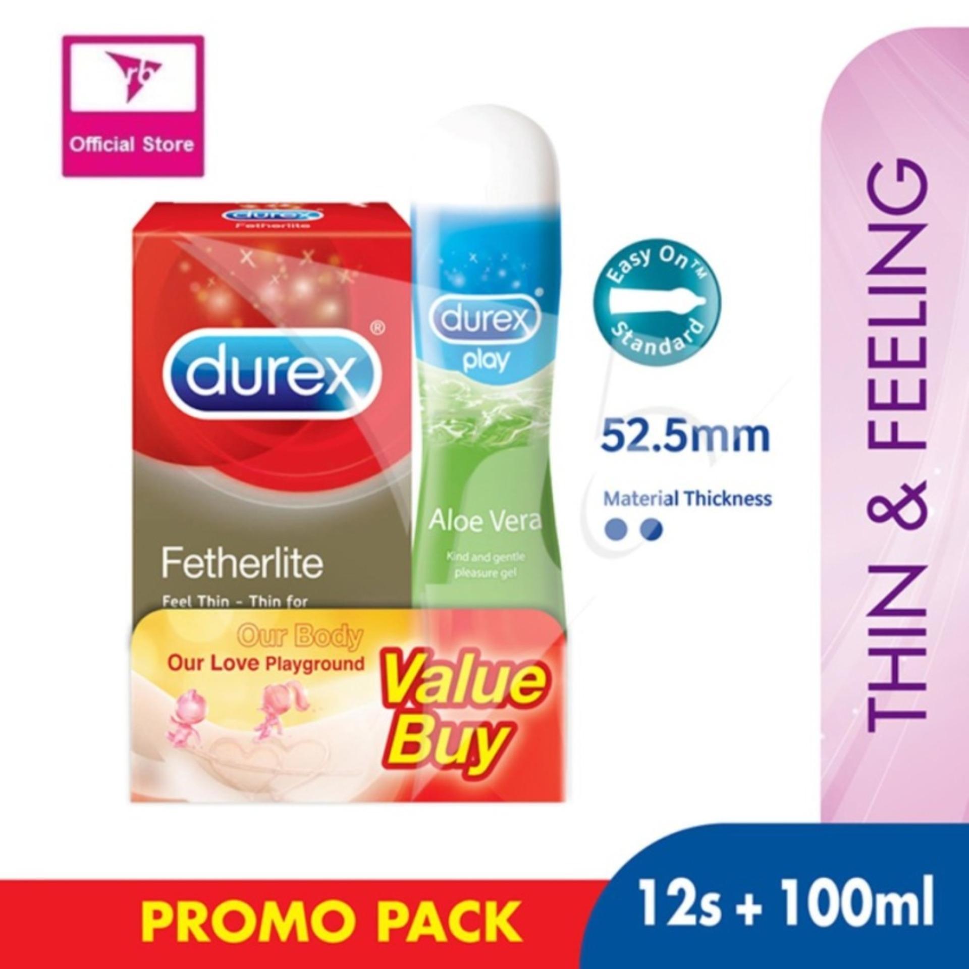 Discount Durex Fetherlite Condoms 12S Durex Play Aloe Vera Intimate Lube 100Ml Value Pack Durex On Singapore