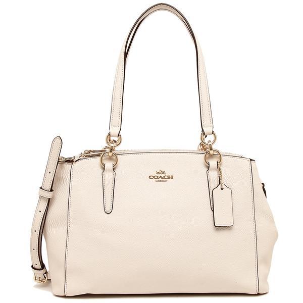 Coach Small Christie Carryall In Crossgrain Leather Handbag Gold   Chalk    F57520 + Gift Receipt b0d232905f935