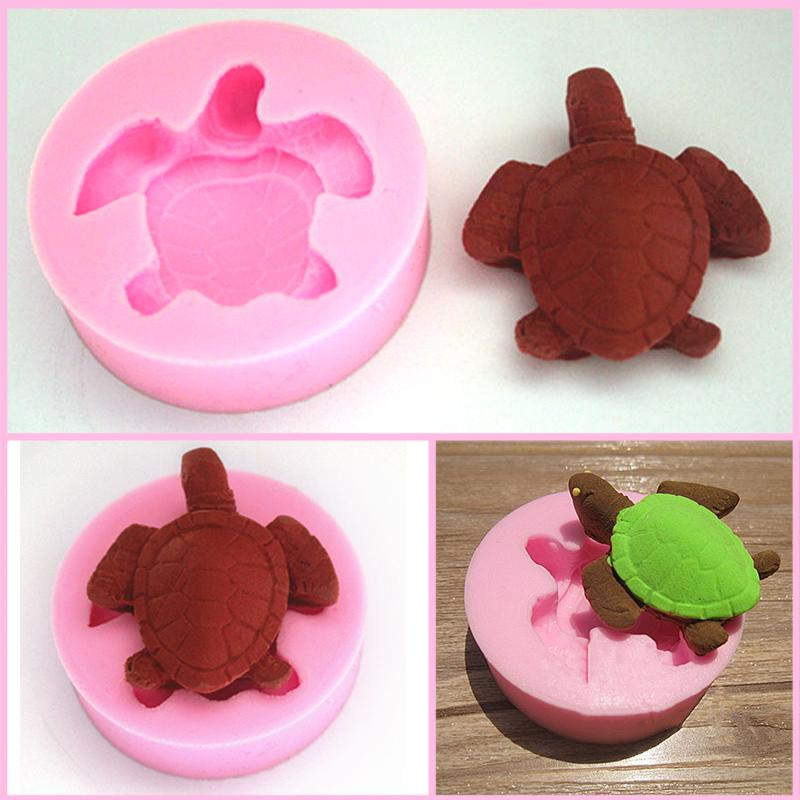 3D Turtle Silicone Fondant Mold Chocolate Polymer Clay Mould Free Shipping