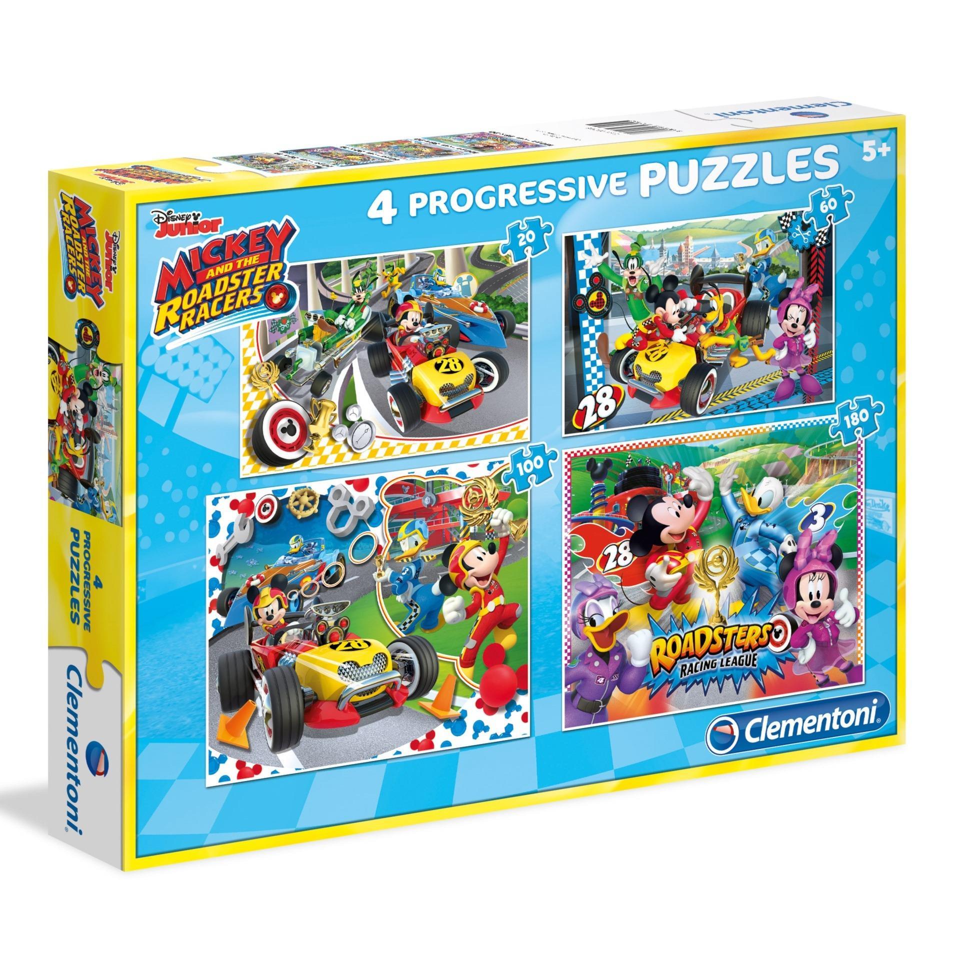 93e34692434e Clementoni 20+60+100+180 Pcs Disney Mickey and the Roadster Racers Jigsaw