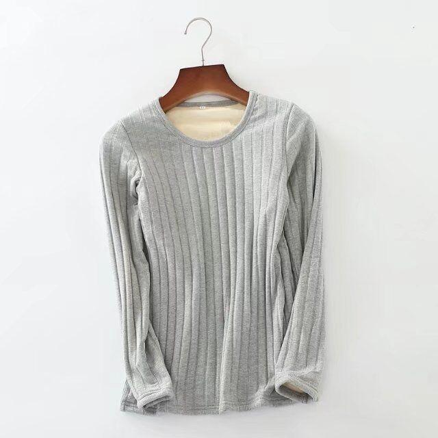 Compare Winter Plus Velvet Plus Sized Slim Fit Thermal Clothes Long Hair Sweater Base Shirt