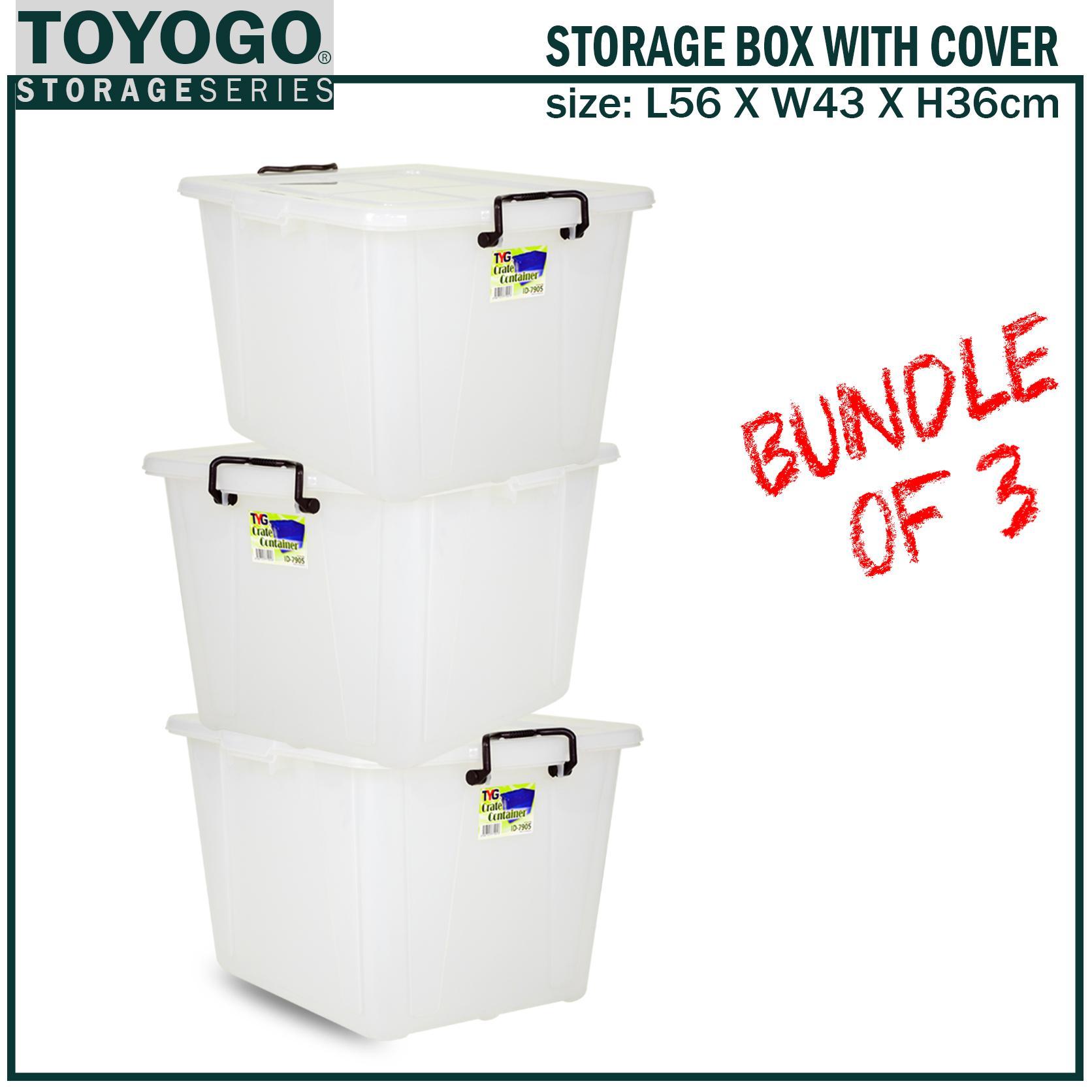 *BUNDLE OF 3 [7905]TOYOGO - PLASTIC STORAGE BOX(HOUSEHOLD STORAGE)