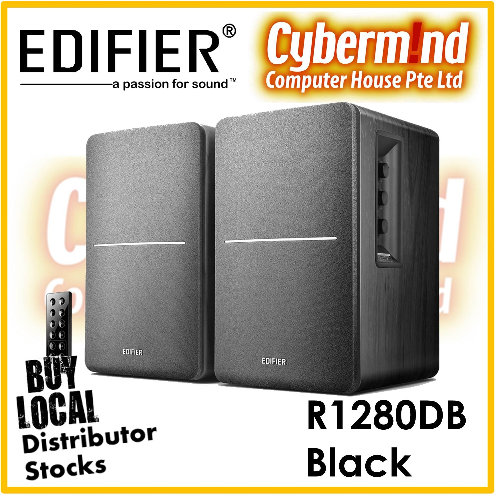 Edifier R1280DB 2.0 Bluetooth Bookshelf Speaker - BLACK (Local Distributor Stocks / Brought to you by Cybermind 20years in Singapore!)