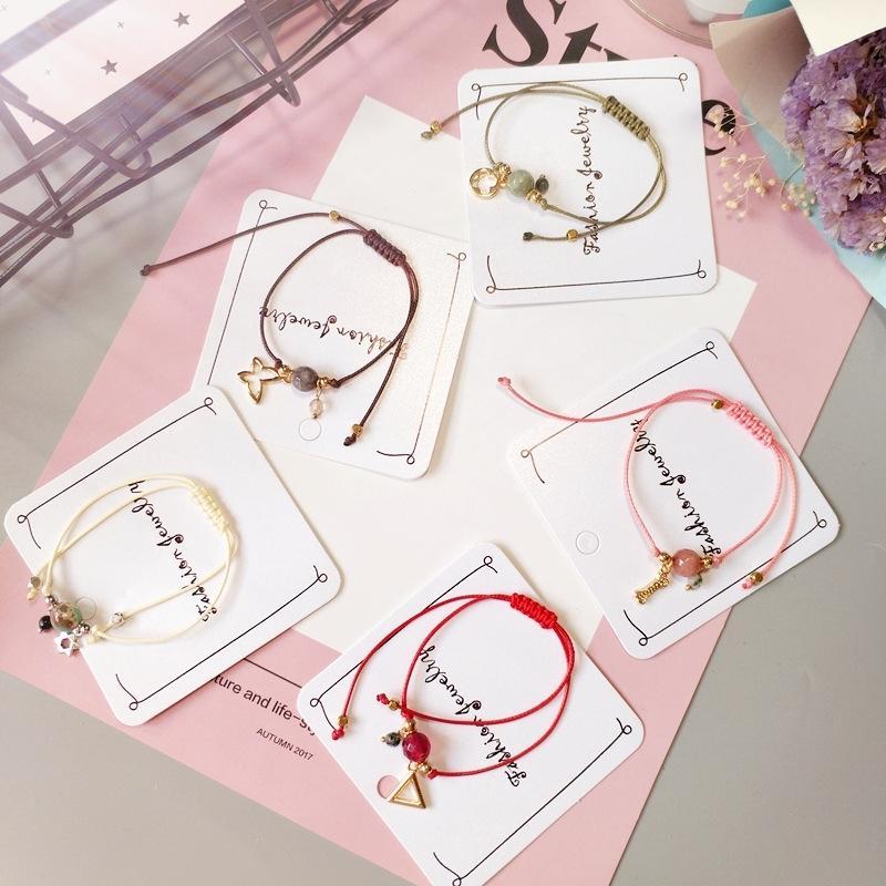 Source · 18 k Korea Fashion Style huruf. Source · 【Rantai manik porselen merah A053】hadiah hitam salju transportasi gelang gelang kaki lonceng benang