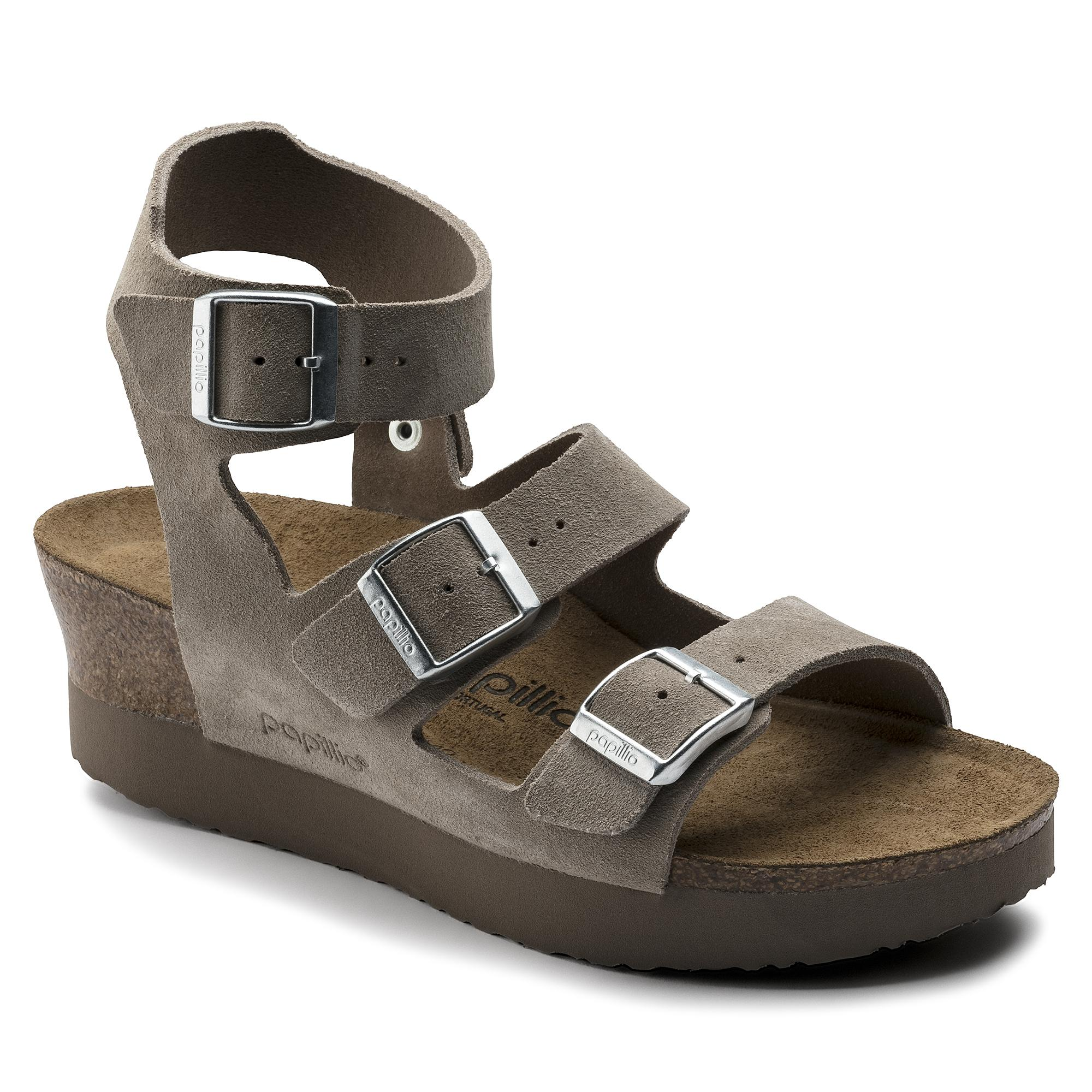 6f8ccb997bd6a Birkenstock Arizona Suede Leather Washed Metallic Blue Silver price ...