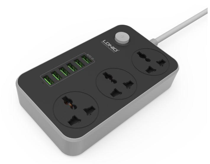 ★Ship from Singapore★ 8 LDNIO SC3604 10A MAX UK Socket 3AC + 6 USB FAST Charger Power Strip