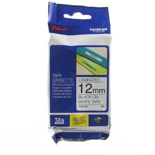 Retail Price Genuine Brother Tz 231 Tze 231 Tz 231 Tze 231 Tz231 Tze231 Laminated 12Mm Black Text On White Label Tape
