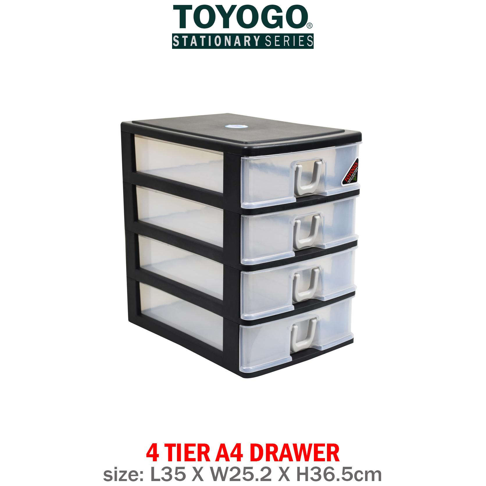 [401-4]TOYOGO - PLASTIC A4 DRAWER