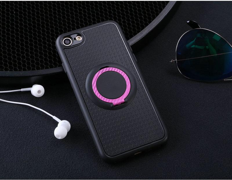 Case For Apple iPhone 7 Car Magnetic Suction Bracket Finger Ring Soft TPU Back Cover for Apple iPhone 7 Global Version