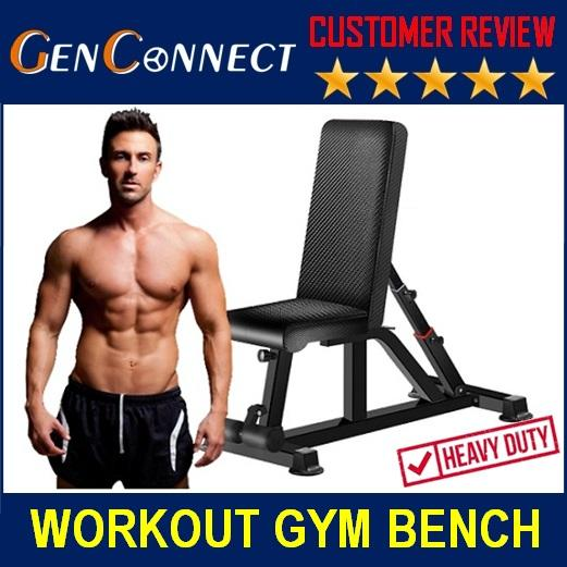 Workout Bench Exercise Gym Bench Bench Press Fitness Bench Adjustable Back Rest Sports And Fitness By Genconnect.