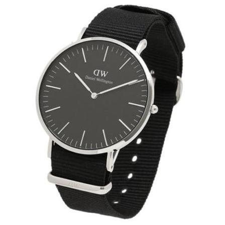 db075a365520 Daniel Wellington Classic Black Cornwall Silver 40mm Watch DW00100149