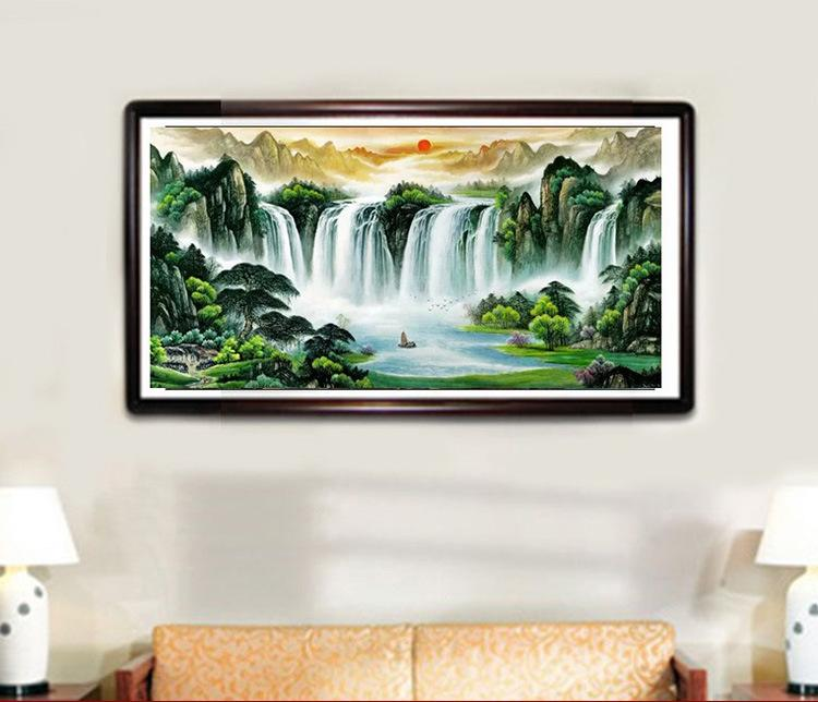 Chinese Ink Painting Mountain Water Painting Celebritys Home Decoration
