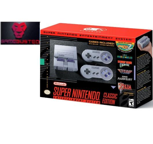 Snes Super Nintendo Classic Mini Edition Console Us Best Buy