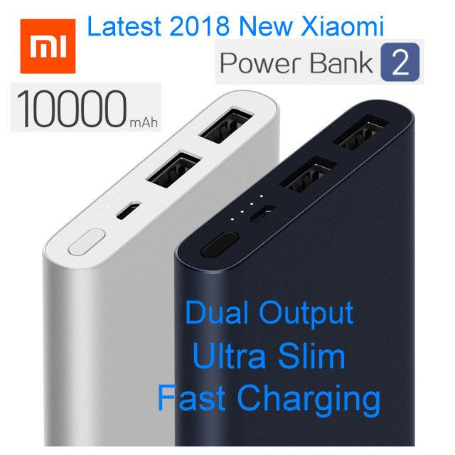 Retail Price Latest New Xiaomi Mi Power Bank 2 10000Mah Upgraded With Dual Usb Output Powerbanks Supports Two Way Quick Charge