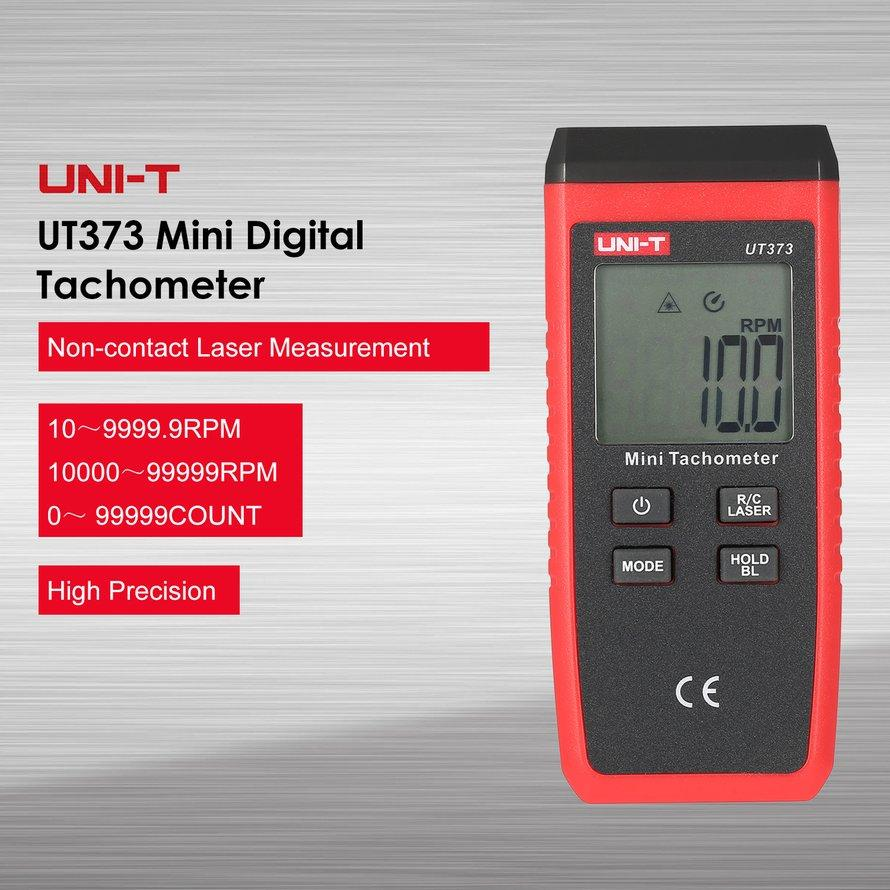 OSMAN UNI-T UT373 LCD Digital Mini Non-Kontak Laser Tachometer RPM Kecepatan Tester