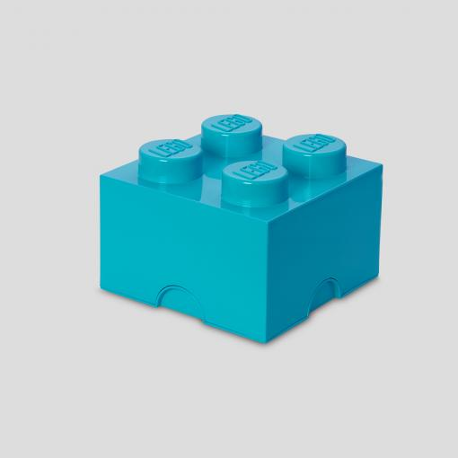 LEGO Storage Brick 4 (Medium Azur)