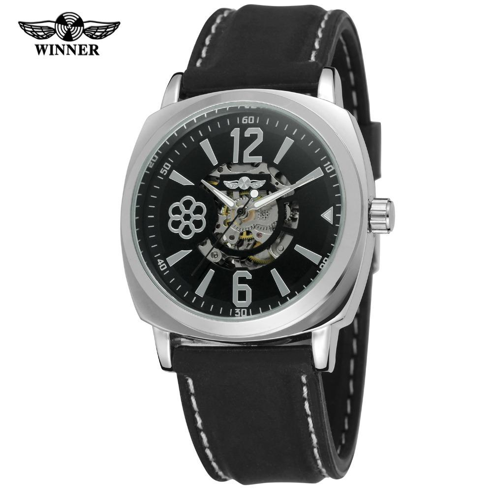skeleton mechanical hand men com mudder mens wrist amazon movement s dp ac elegant leather watch shshd wind black dial up watches shoppewatch