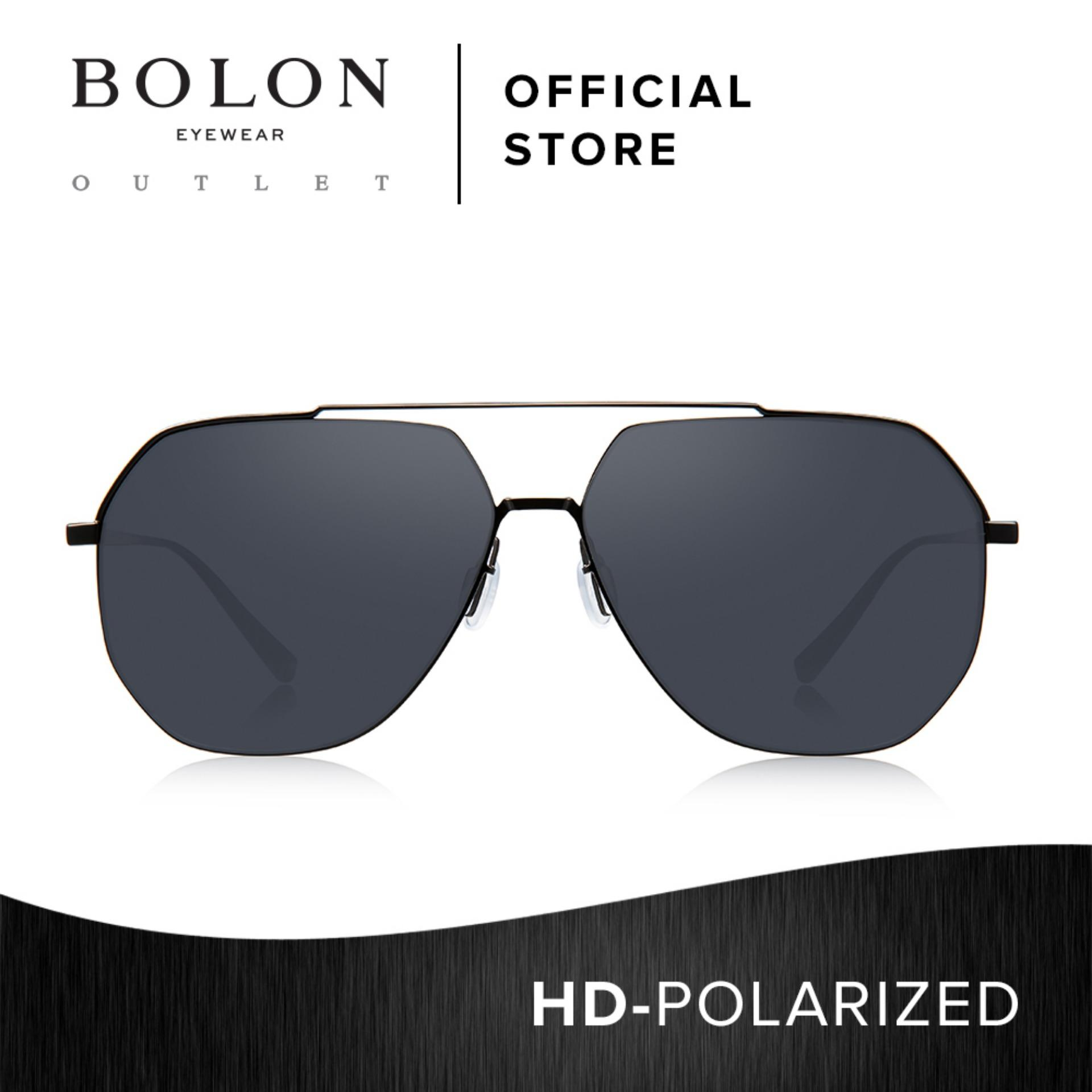bcc9be523f0 BOLON Eyewear Unisex HD Polarized Aviator Sunglasses Babylon BL8009 Black